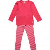 PETIT BATEAU Girls Dark Pink Jersey Pyjamas