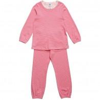 PETIT BATEAU Girls Red Striped Jersey Pyjamas