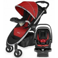 Recaro Denali Luxury Travel System - Scarlet