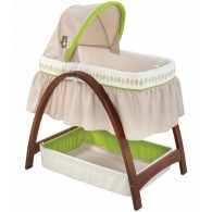 Summer Infant Bentwood Bassinet With Motion (Dark Stain)