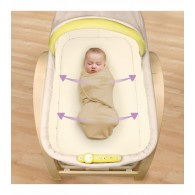 Summer Infant Bentwood Bassinet With Motion (Light Stain)