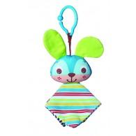 Tiny Love Clip on Toy, Crinkly Bunny