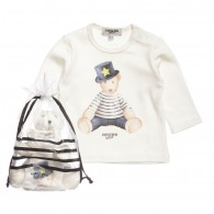 JUNIOR GAULTIER Boys Ivory Top and Soft Toy