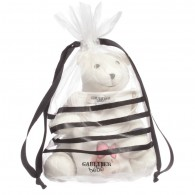 JUNIOR GAULTIER Girls Ivory Top and Soft Toy