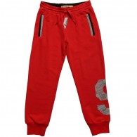 JOHN GALLIANO Boys Red Cotton Jersey Trousers