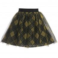 JUNIOR GAULTIER Yellow Tartan Tulle Skirt