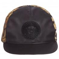 YOUNG VERSACE Black & Gold Baroque Baseball Cap