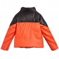 YOUNG VERSACE Boys Down Padded Black & Orange Jacket