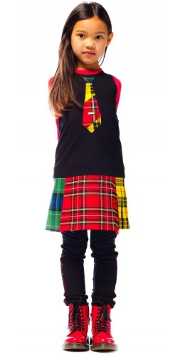 JUNIOR GAULTIER Black Jersey Dress outfit