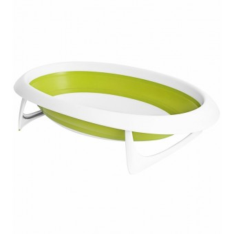 Boon NAKED 2-Position Collapsible Baby Bathtub in Green/White