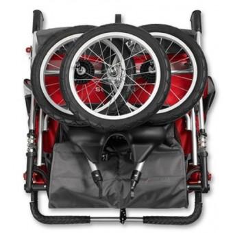 Schwinn Arrow Fixed Wheel Double Jogger - Red/Black
