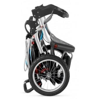 Schwinn Turismo Swivel Single Jogger - Gray/Blue