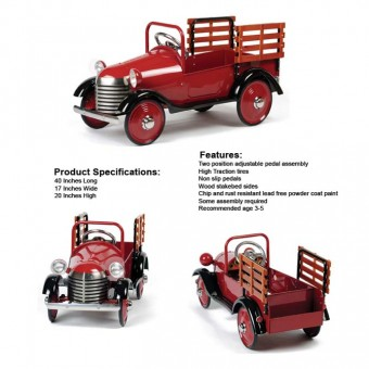 Airflow Collectibles Deep Burgundy Pedal Truck