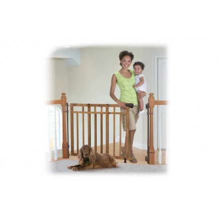 Summer Infant Banister & Stair, Top Of Stairs Gate With Dual Installation Kit
