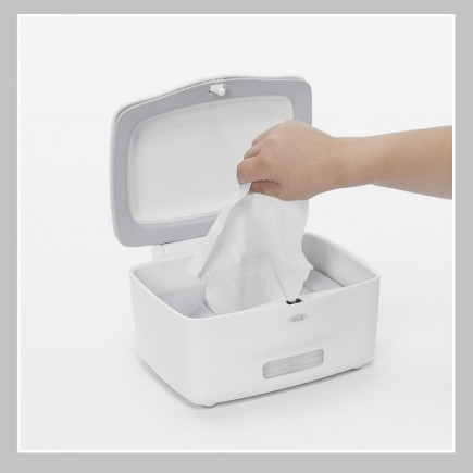OXO Tot Perfect Pull Flushable Wipes Dispenser in White