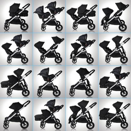 Baby Jogger 2014 City Select Double Stroller in Silver