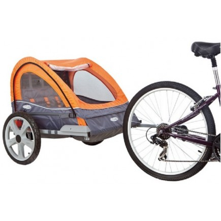 Instep Quick N Bicycle Trailer Double - Orange/Gray