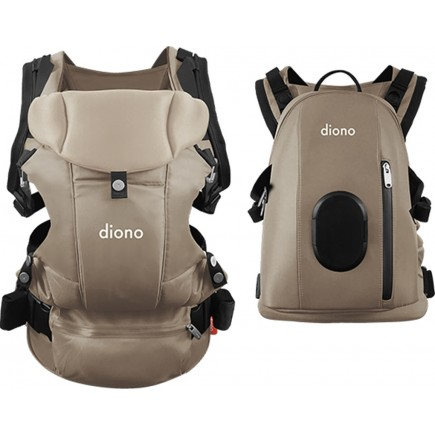 Diono Carus Complete 4-in-1 Baby Carrier + Detachable Backpack - Sand