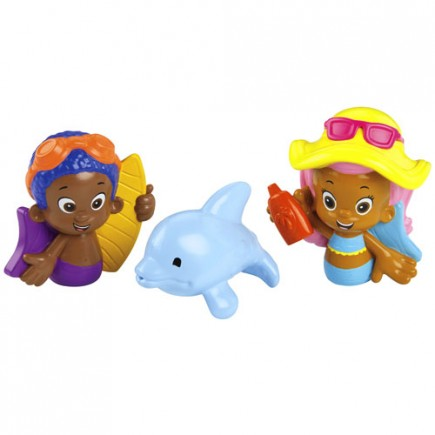 Fisher Price Bubble Guppies Molly, Goby and Buddy Bath Squirters
