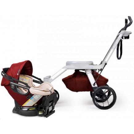 Orbit Baby G2 Frame + G3 Infant Car Seat - Mocha/Ruby