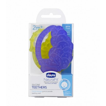Chicco Soft Silicone Fruit Teethers 2-Pack, 2M+