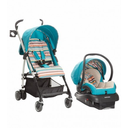Maxi Cosi Kaia and Mico AP Travel System in Bohemian Blue