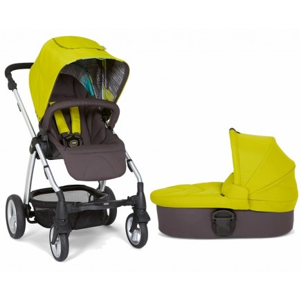 Mamas & Papas Sola 2 Stroller & Carrycot in Lime Green
