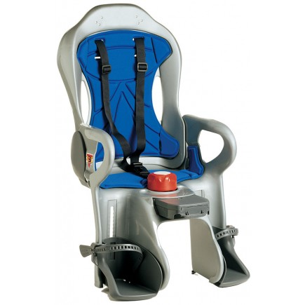 Peg Perego Sirius Silver/Blue Rear Mount Child Seat in Silver/Blue