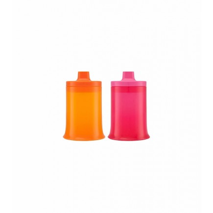 Boon Stout 9oz. Transitional Cup 2 Pack in Pink & Orange