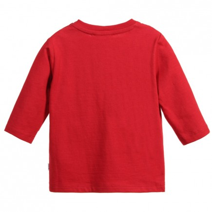 BOSS Baby Boys Red Side Logo Top