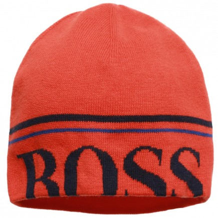 BOSS Boys Knitted Logo Hat
