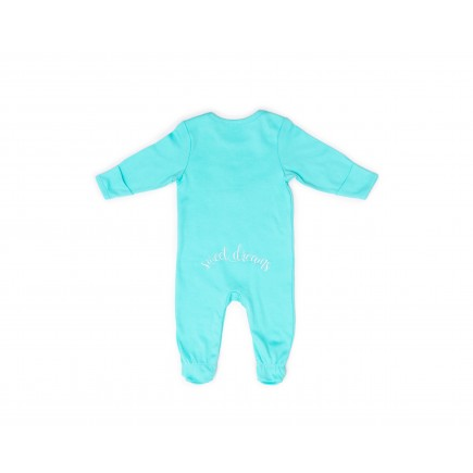 RB Royal Baby Organic Cotton Gloved Sleeve Footed Overall Footie with Hat (Sweet Dreams)