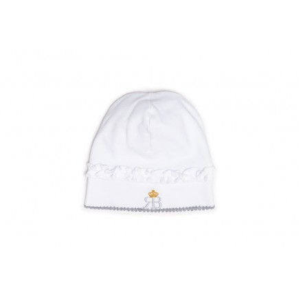 RB Royal Baby Organic Cotton Beanie Hat Super Soft Infant Cap (Snap and Dream)