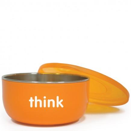 Thinkbaby BPA Free Cereal / Soup Bowl - Orange