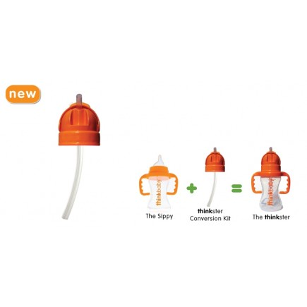 Thinkbaby Sippy Cup or Bottle conversion Kit into Thinkster straw bottle