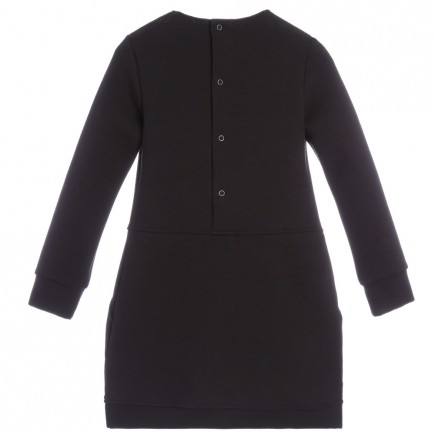 KENZO Black Cotton Jersey 'Monsters' Dress