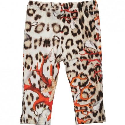 ROBERTO CAVALLI Baby Girls Viscose 'Coral Leopard' Leggings