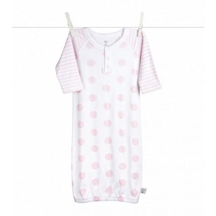 Little Giraffe Lollipop Henley Gown in Pink - 0 to 6 Months