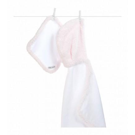 Little Giraffe Splash & Dry Chenille Towel & Washcloth Set in Pink