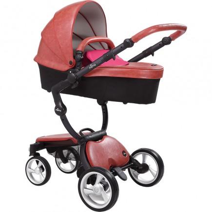 Mima Xari Stroller - Black/Sicilian Red/Hot Magenta