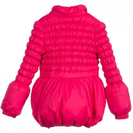 MISS BLUMARINE Girls Bright Pink Down Padded Coat
