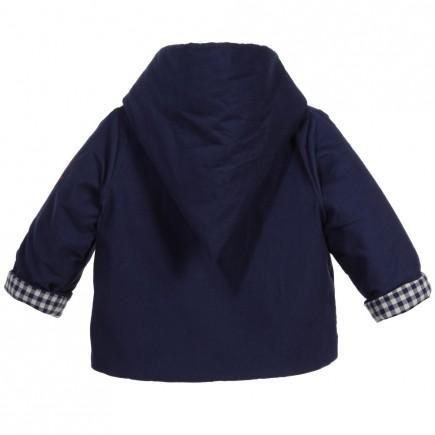 PETIT BATEAU Baby Navy Blue Cotton Padded Jacket