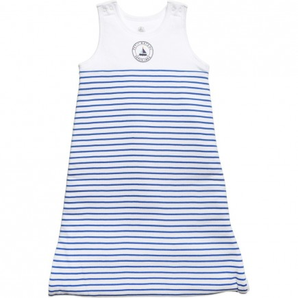PETIT BATEAU Blue & White Striped Sleeping Bag (1.8 tog)