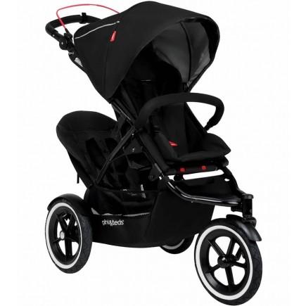 Phil & Teds Sport Double Stroller - Black