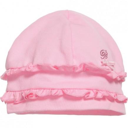 MISS BLUMARINE Baby Girls Pink Cotton Hat