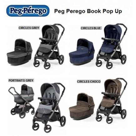 Peg Perego Book Pop Up Stroller in Portraits Grey