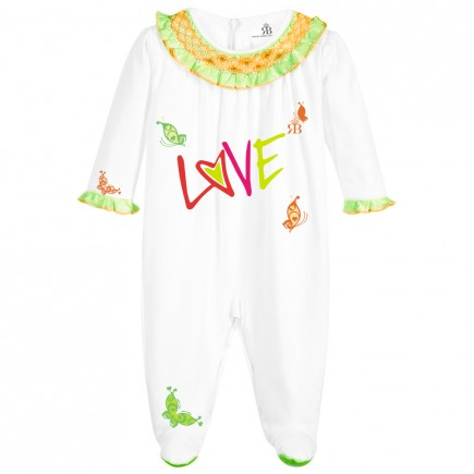 Royal Baby Collection Girls Pink Babygrow, Footie