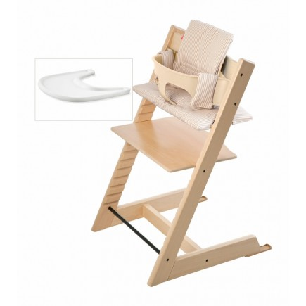 Stokke Tripp Trapp Bundle - Natural / Beige Stripe