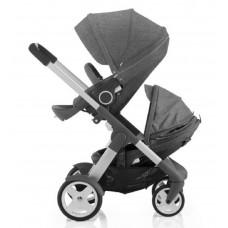 Stokke Crusi Double Stroller - Black Melange